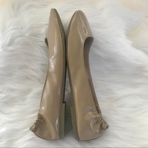 SO Shoes - So Ballet Flats Nude Beige 8.5 Faux Patent Leather